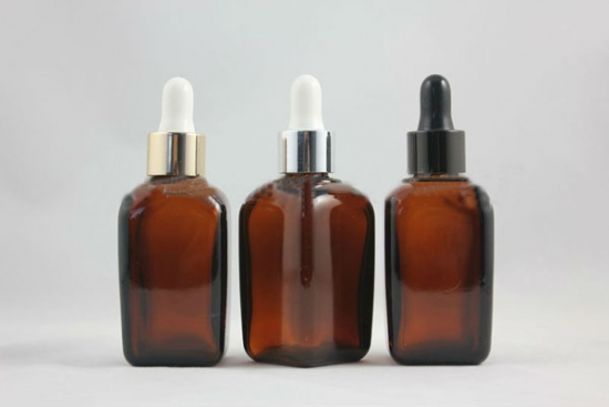50ml Square brown essential oil bottle