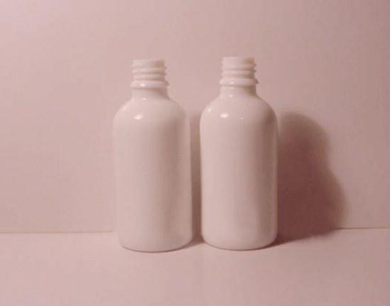 50ml White glass essential oil bottle