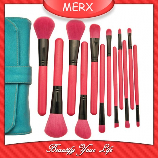 12 pcs pink brush set