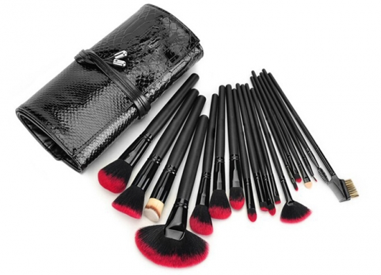18 pcs black brush set